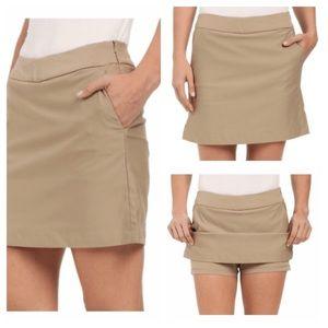 Nike DRI-FIT Tournament Golf Skort Skirt Shorts 16